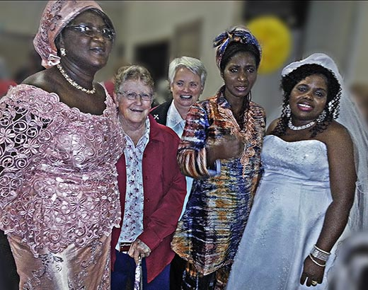 Penola House West African wedding photo