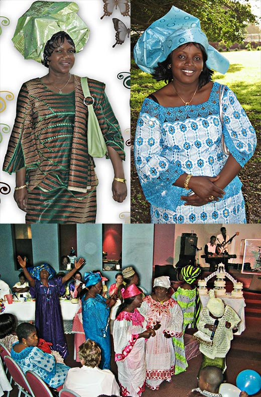 Penola House West African wedding montage photo